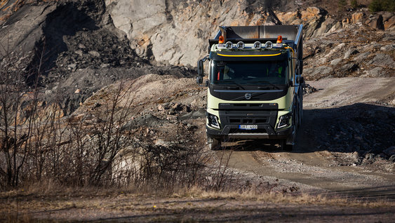 The Volvo FMX chassis is designed to protect all vital parts